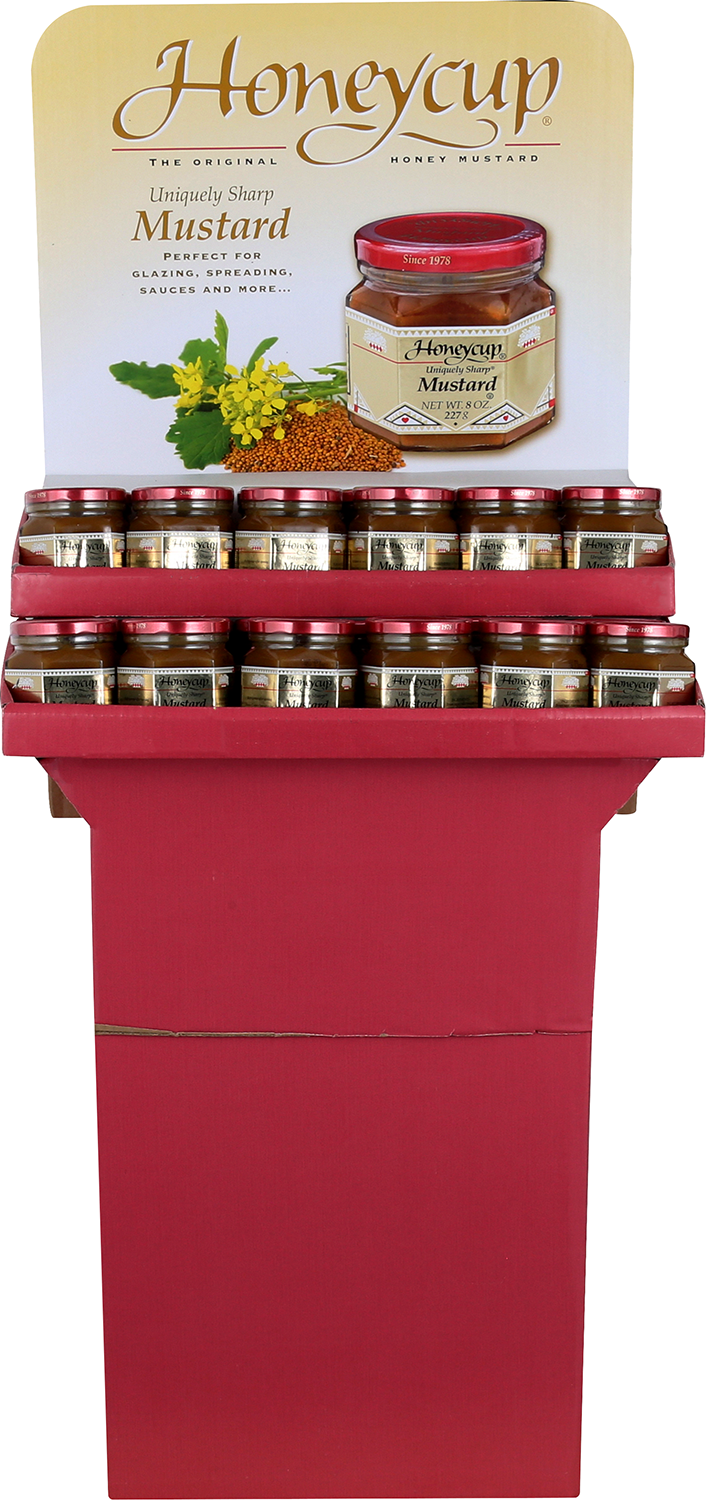 Honeycup Mustard Shipper - front of shipper