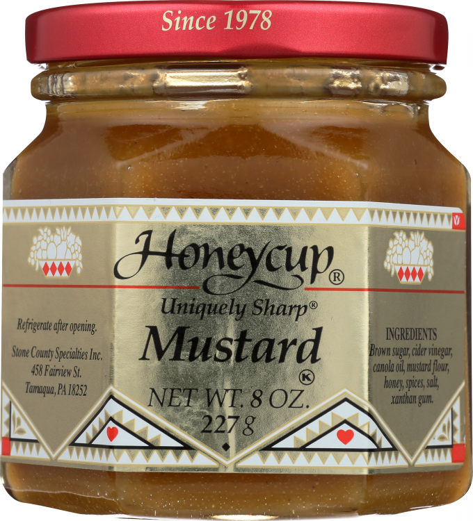 Honeycup Mustard - front of jar