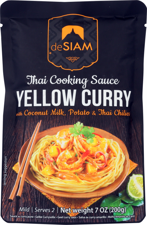 deSIAM Yellow Curry Simmer Sauce - front of package