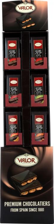Premium Dark Chocolate Bar Shipper