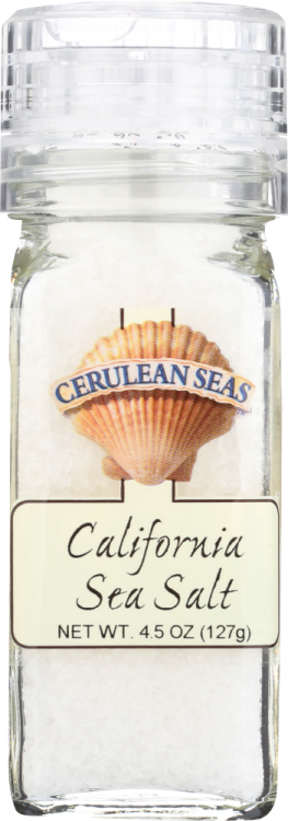 Front view of California Sea Salt Grinder