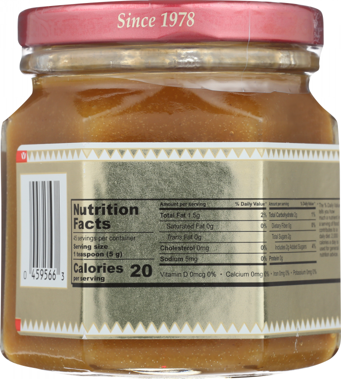 Honeycup Mustard - back of jar