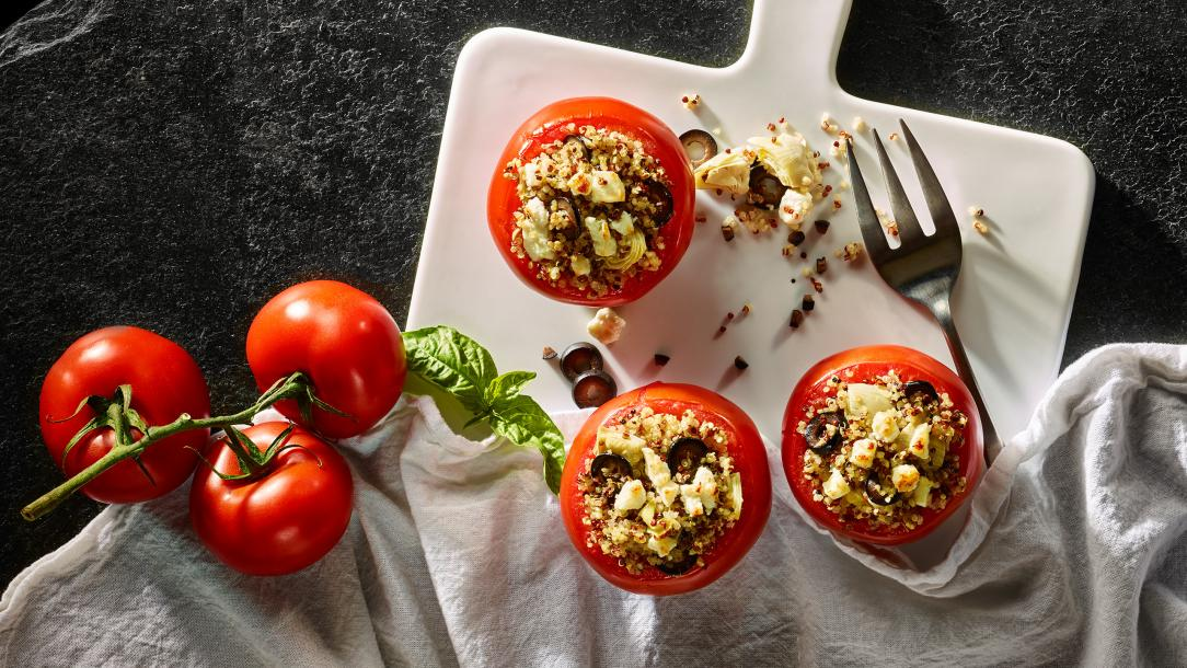 Feta-Full Stuffed Tomatoes