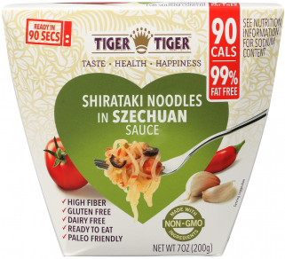 Front of Package - Shirataki Noodles in Szechuan Sauce