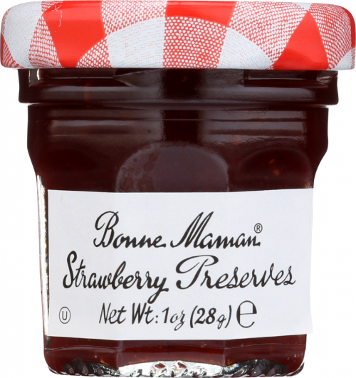 Front view of Strawberry Preserves 1oz Mini