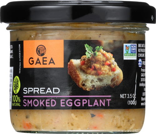 Front view of Smoked Eggplant Spread