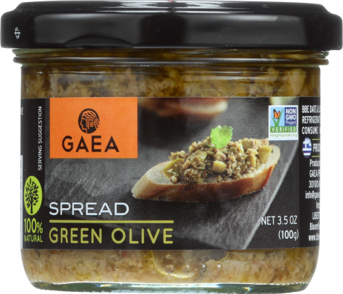 Front view of Green Olive Tapenade