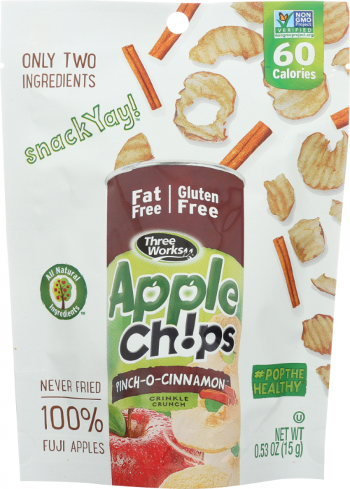 Front view of Apple Chips 2Go - Pinch-O-Cinnamon